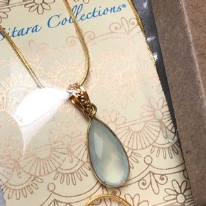 Sitara Collections Jewelry - Gold plated Chalcedony Pendant Necklace